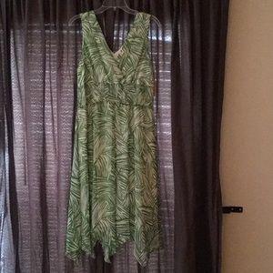 Dress barn Green and Cream Stripe dress